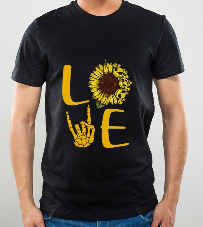 Hot Love Sunflower Rock And Roll Jack Skeleton shirt