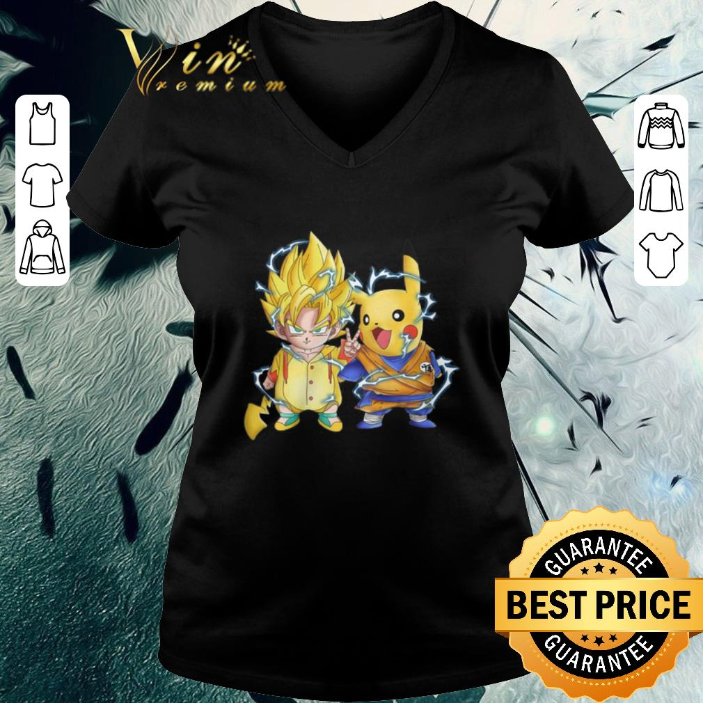 Official Dragon Ball Z Son Goku And Pikachu Shirt 3 1.jpg