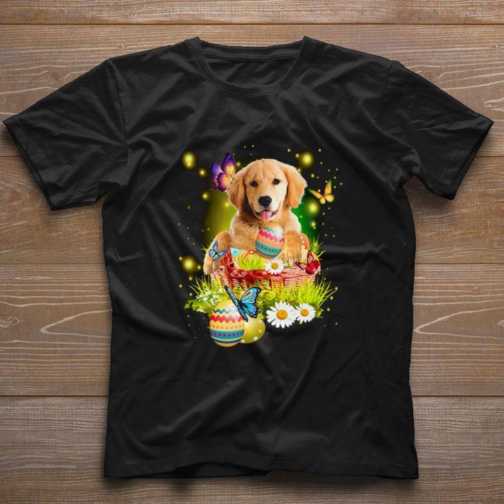 Original Golden Retriever Easter Butterfly White Daisy Flower Shirt 1 1.jpg