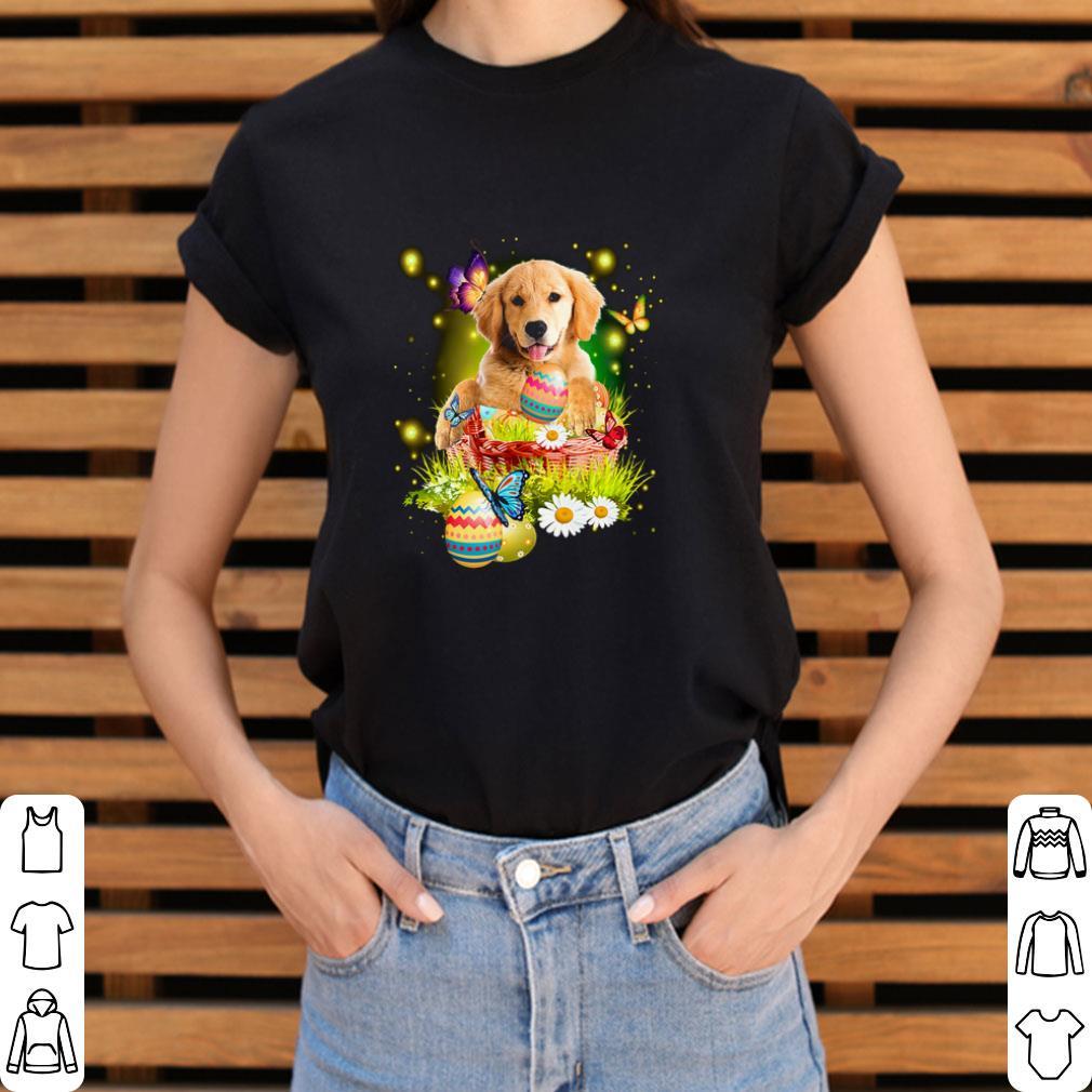 Original Golden Retriever Easter Butterfly White Daisy Flower Shirt 3 1.jpg