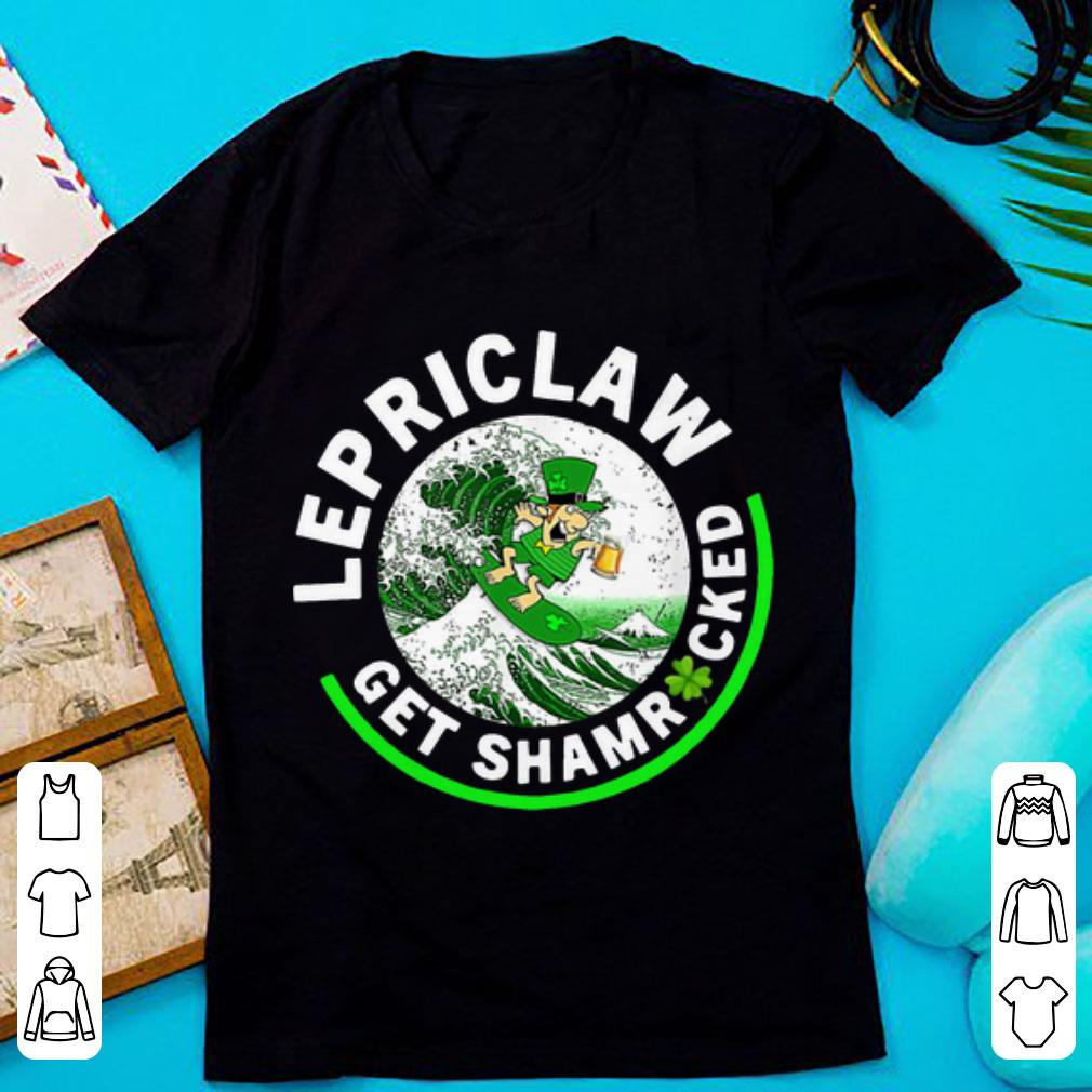 Original Lepriclaw Shamrock Leprechaun Surf Wave Beer Drinking Shirt 1 1.jpg