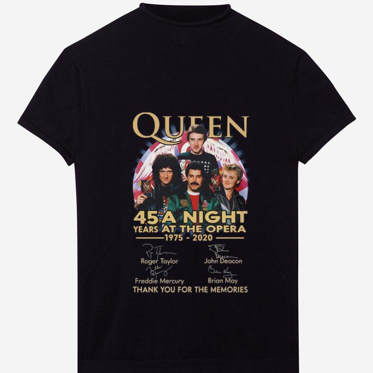 Premium Queen 45 Years A Night At The Opera Thank You For The Memories Signatures Shirt 1 1 1.jpg