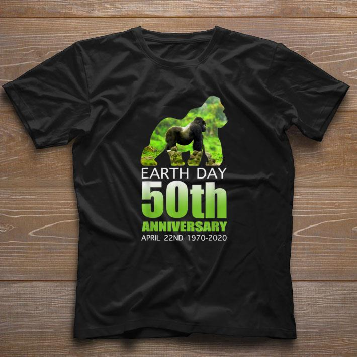 Pretty Gorilla Silhouette Earth Day 50th Anniversary April 22nd Shirt 1 1.jpg