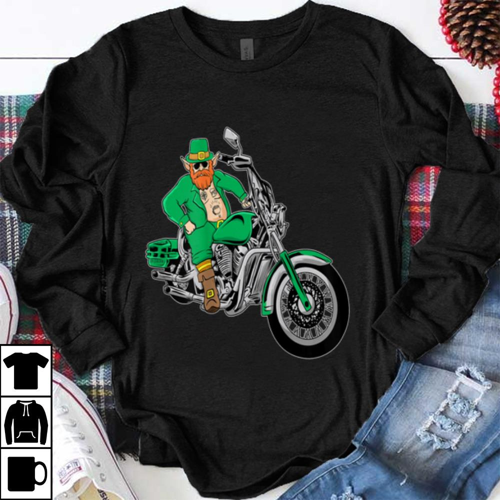 Pretty Irish Motorcycle Biker St Patricks Day Leprechaun Ink Shirt 1 1.jpg