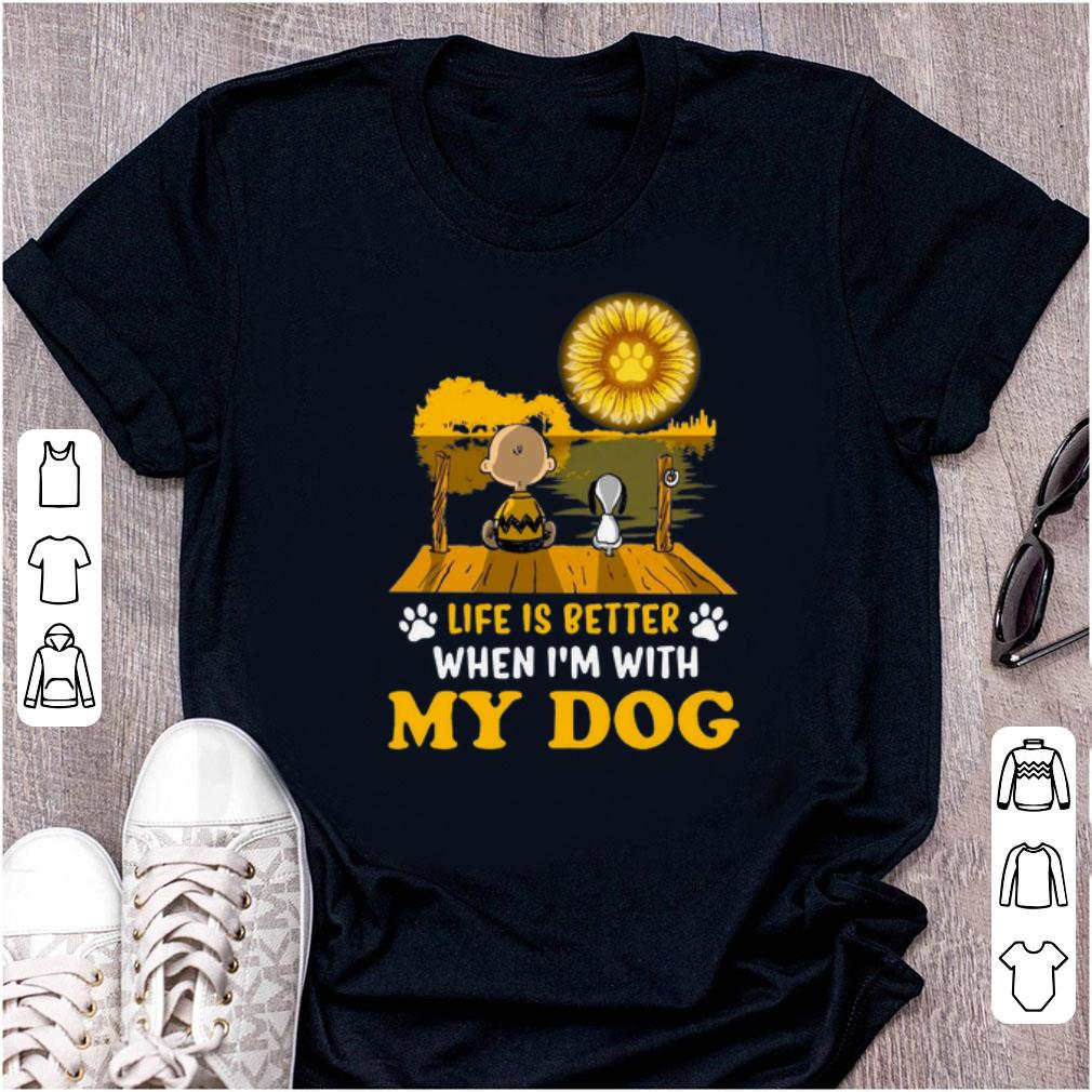 Top Snoopy And Charlie Brown Life Is Better When I M With My Dog Sunflower Shirt 1 1.jpg