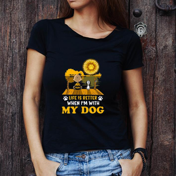 Top Snoopy And Charlie Brown Life Is Better When I M With My Dog Sunflower Shirt 3 1.jpg