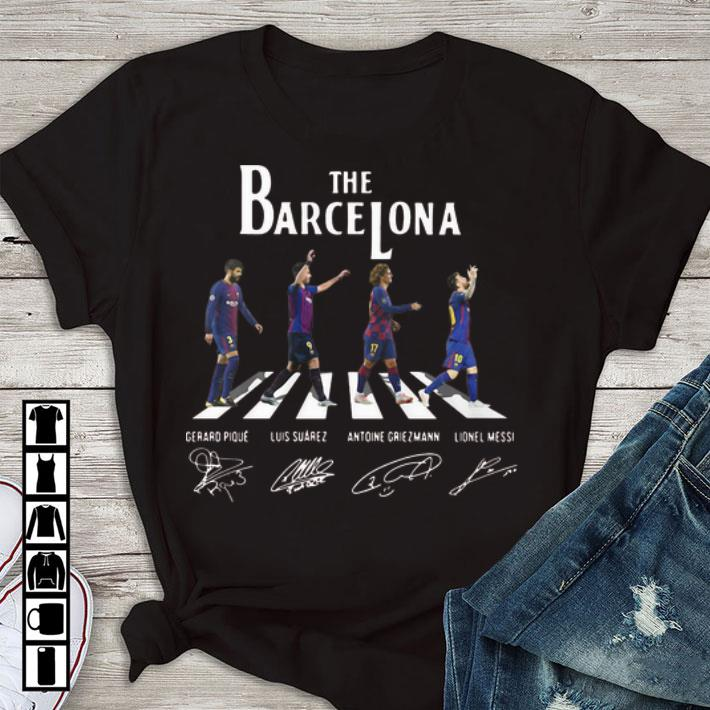 Nice The Barcelona Abbey Road Signatures Lionel Messi Luis Suarez Shirt 1 1.jpg