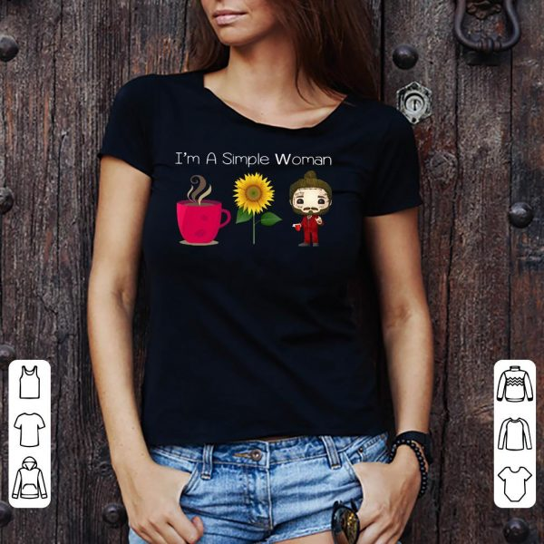 I'm a simple woman coffee Sunflower Post Malone shirt