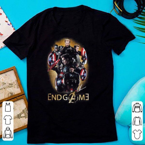 Marvel Captain America Endgame signature shirt