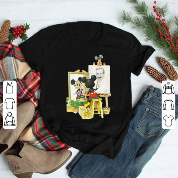 Mickey mouse drawing Walt Disney shirt