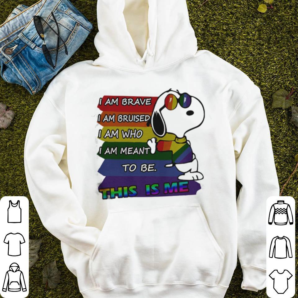 Snoopy I Am Brave I Am Bruised I Am Who shirt 4 - Snoopy – I Am Brave I Am Bruised I Am Who shirt