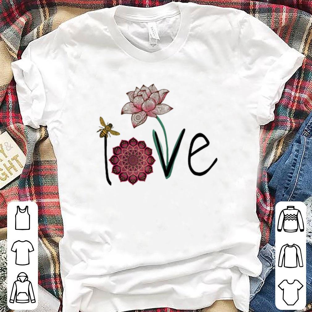 Bee And Lotus Flower Love Shirt Hoodie Sweater Longsleeve T Shirt