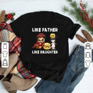 Iron Man And Daughter Like Father Like Daughter Hamburger shirt