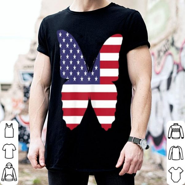 4th Of July Butterfly American Flag Patriotic Happy Independence Day shirt