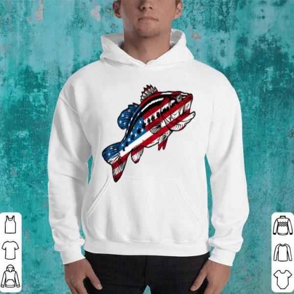 4th Of July Fishing American Flag Bass Shirt