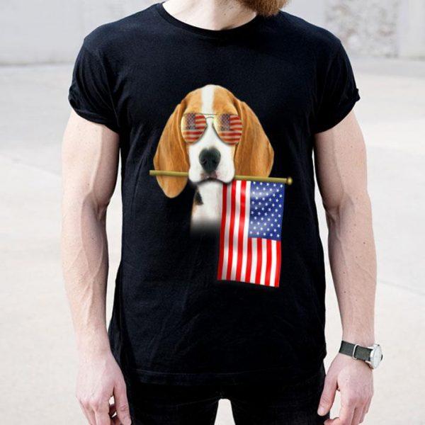 4th Of July Fun American Flag Beagle Dog Lover Gift Shirt