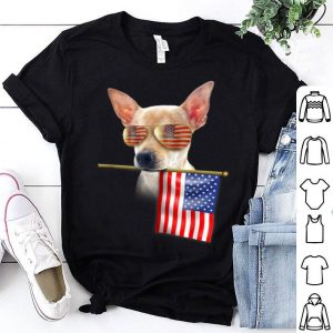 4th Of July Fun American Flag Chihuahua Dog Lover Gift Shirt