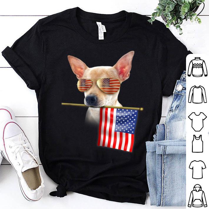fbd8b6ea2f1a9 4th Of July Fun American Flag Chihuahua Dog Lover Gift Shirt