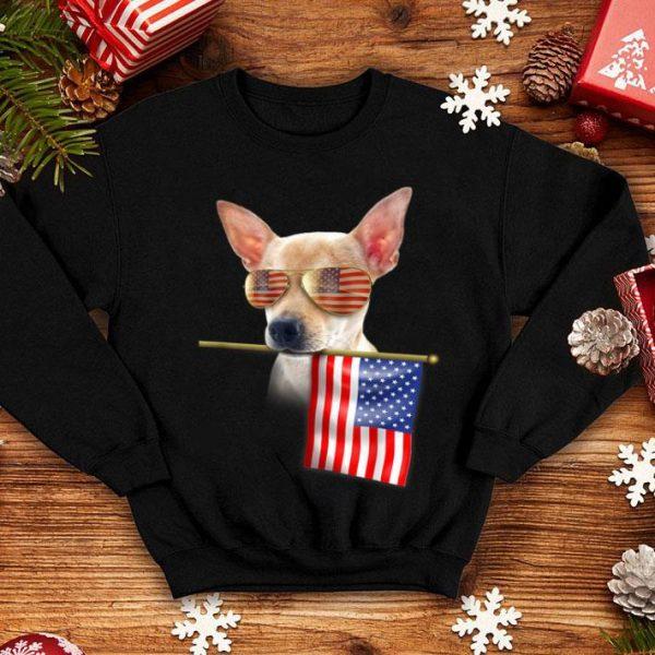4th Of July Fun American Flag Chihuahua Dog Lover Gift Shirt