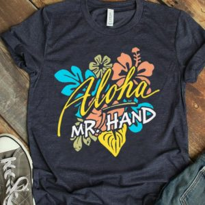 Aloha Mr.Hand Vacation Summer Vacation Flower shirt