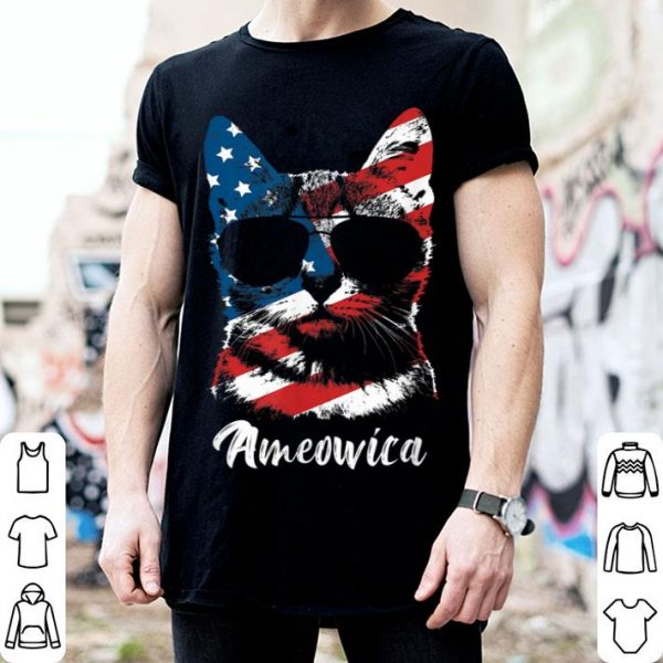 Ameowica Cat Lover Patriotic 4th Of July Gifts Shirt
