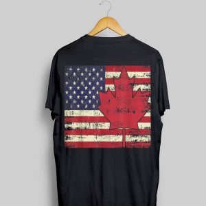 American Flag Canada Day 4th Of July shirt