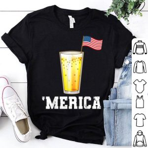 American Flag USA Merica Beer 4th Of July shirt
