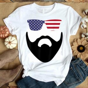 American Sunglasses Flag And Beard USA 4th Of July shirt
