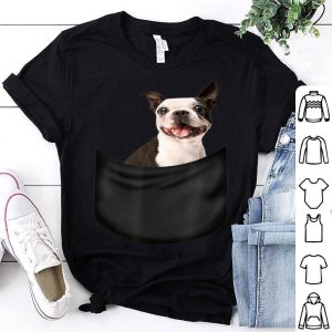 9c981a7b Boston Terrier Pocket Funny Father's Day Dog Gifts Shirt