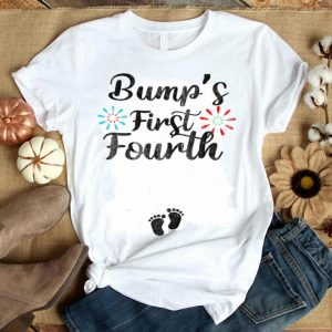 Bump's First Fourth 4th Of July Pregnancy Announcement shirt