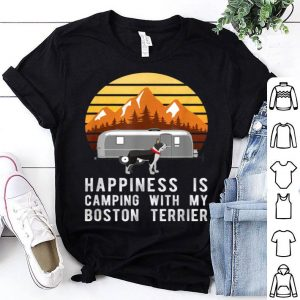 Camping With Boston Terrier, Dog Owner Camper shirt