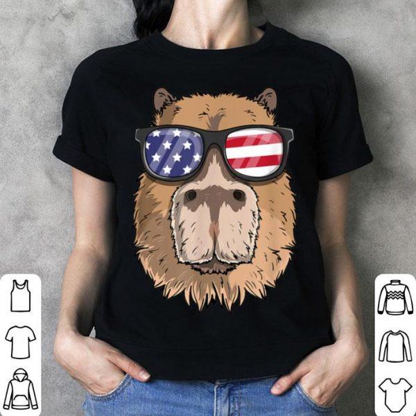 Capybara Patriotic 4th Of July American Flag shirt