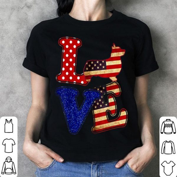 Corgi American Flag Patriotic Dog shirt