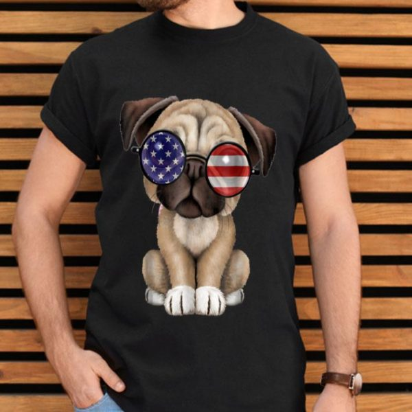 Cute Pug Dog Independence Day Fourth Of July shirt