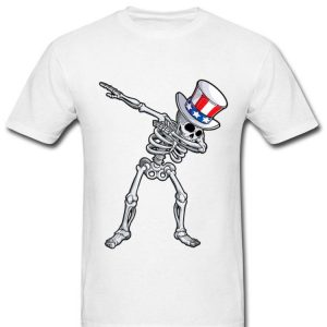 Dabbing Uncle Sam Skeleton 4th Of July Dab shirt
