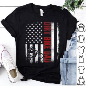 Dirt Bike Dad Funny American Flag Motocross 4th July shirt
