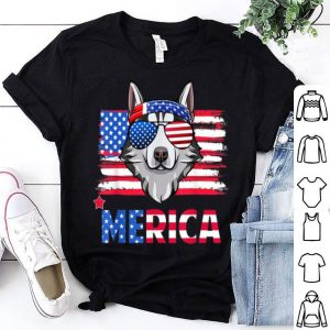 Hanging With Husky Mom Merica 4th July Shirt