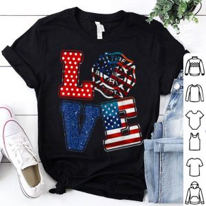 Love Firefighter American Flag 4th Of July Day shirt