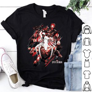 Marvel Spider-man Game Villains Around Logo Graphic Shirt