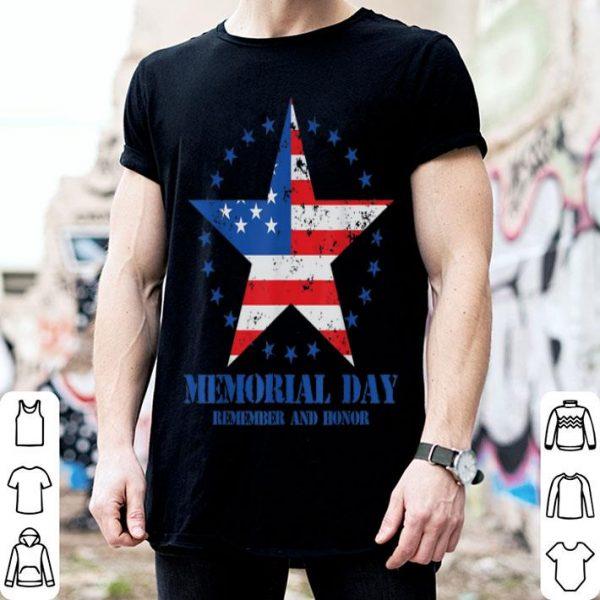 Memorial Day Remember & Honor American Flag shirt