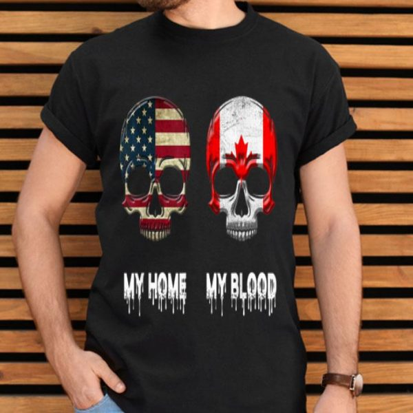 My Home My Blood Canada Flag Canadian shirt