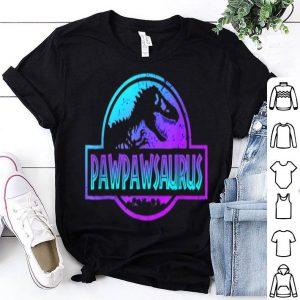 Pawpawsaurus Pawpaw Dinosaur Dad Dinosaur Gift Shirt