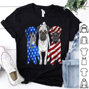 Pug July 4th Patriotic American Flag shirt