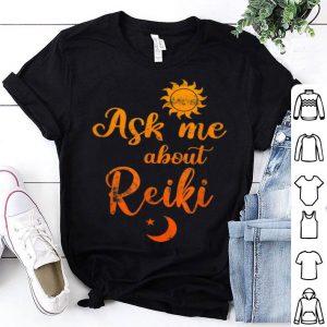 Sunflower Ask Me About Reiki Healing Energy shirt