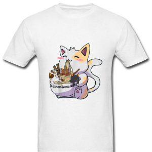 Anime Japanese Noodles Kawaii Neko Cat Ramen Bowl shirt