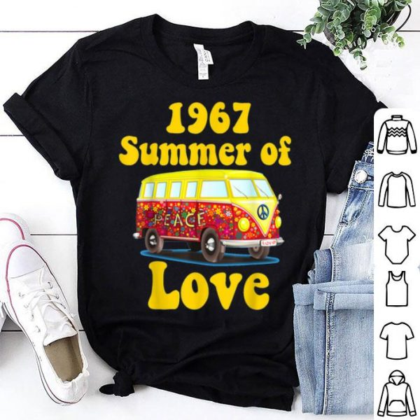 1967 Summer Of Love Retro Vintage Sixties Hippie shirt