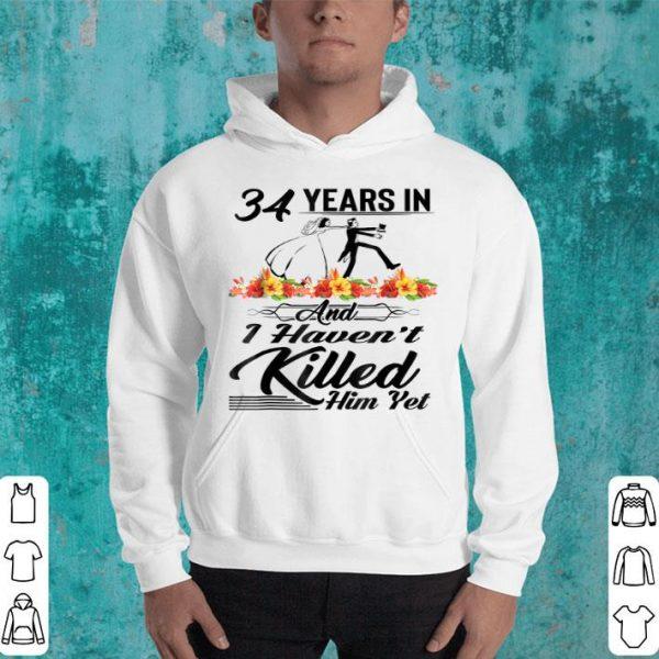 34Th Wedding Anniversarys Vintage Flower shirt