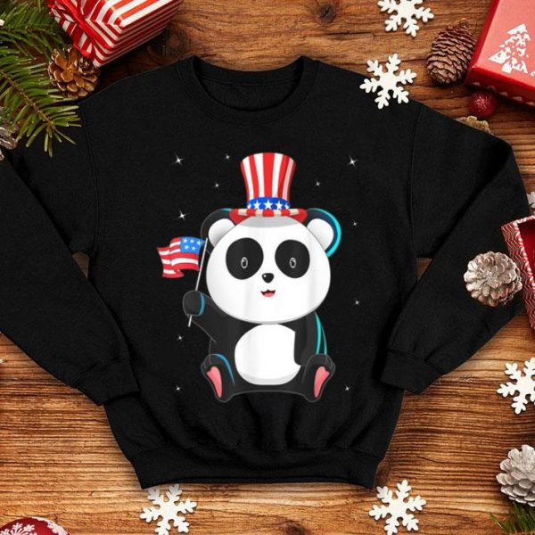 4th Of July Independence Day Patriotic Panda Bear shirt