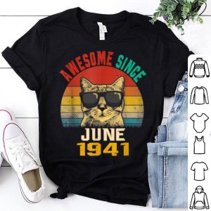78th Birthday Awesome Since June 1941 Cat Lover shirt