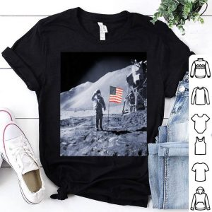 American Flag Moon Landing shirt